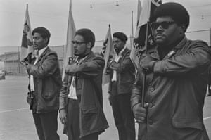 Pirkle Jones, Black Panthers in formation during drill, DeFremery Park, Oakland, No 57 from A Photographic Essay on the Black Panthers