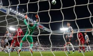 Newcastle United v Liverpool: Divock Origi  scores the late winning goal
