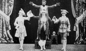 A still from The Triple-headed Lady, a 1901 film by the early French pioneer George Miélès