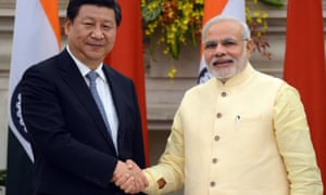 President Xi Jinping of China and President Narendra Modi of India