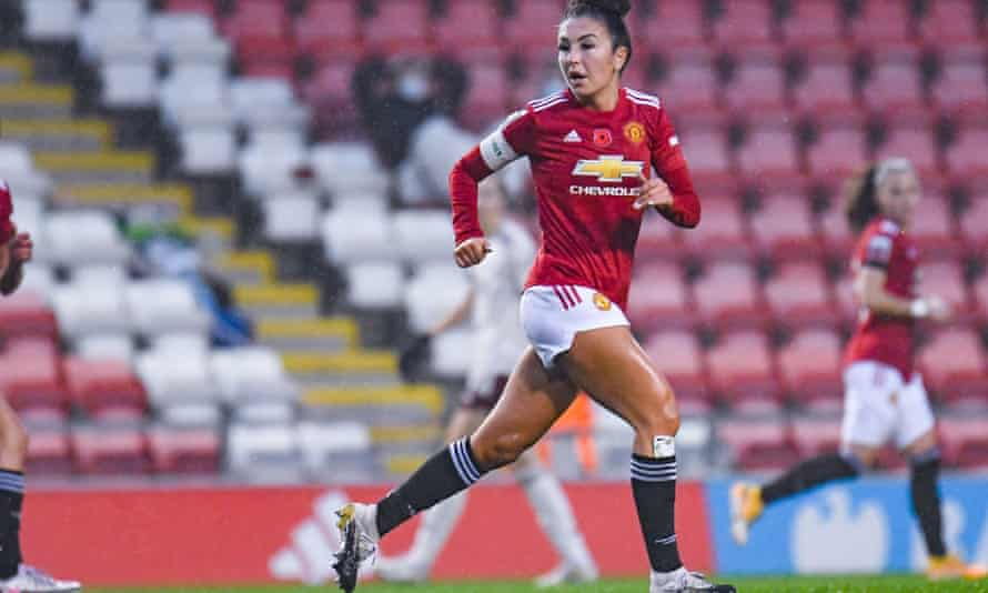 Katie Zelem during Manchester United's 1-0 victory over Arsenal in the WSL