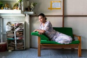 Queen Nicki Rangoon, 24, in her bedroom in Yangon, Myanmar, 2020