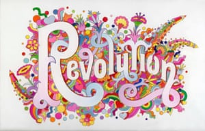 The Beatles Illustrated Lyrics Revolution, 1968, from the V&A Exhibition – You Say You Want a Revolution? Records and Rebels 1966-70.