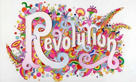 The Beatles Illustrated Lyrics – Revolution - by Alan Aldridge, currently on display at the Victoria and Albert museum, London. The exhibition, You Say You Want a Revolution? Records and Rebels 1966-1970, ends on Sunday.