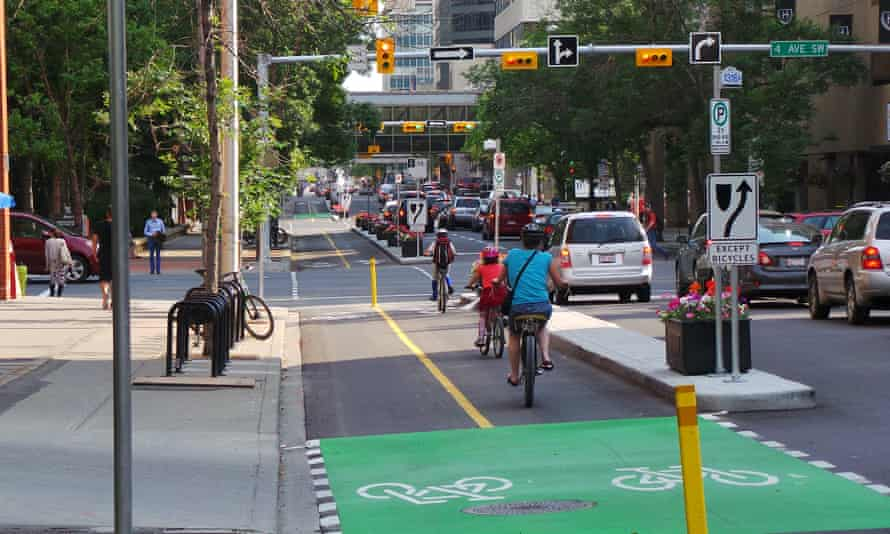 The Cycle track network in Calgary