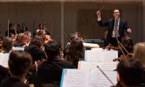 John Wilson rehearses with the BBC Scottish Symphony Orchestra