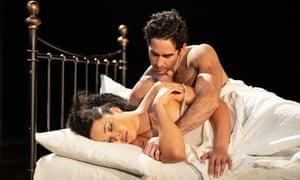 Amber James and Gavin Fowler as Troilus and Cressida.