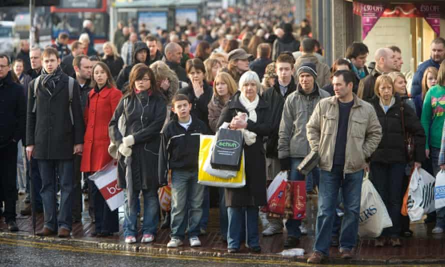 Shoppers on Princes Street, Edinburgh
