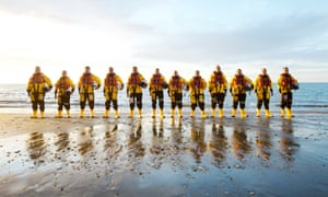 Members of the Sandown independent lifeboat station.