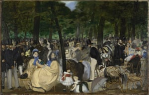 Music in the Tuileries Gardens (1862) by Édouard Manet