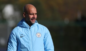 Manchester City manager Pep Guardiola feels Tottenham are less comfortable playing at Wembley than at their still under-construction White Hart Lane home.