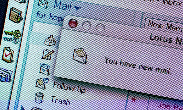 How did email grow from messages between academics to a