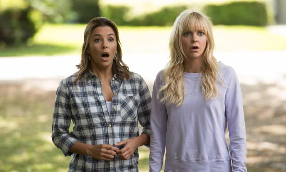 Disappointing … Anna Faris, right, and Eva Longoria in Overboard.