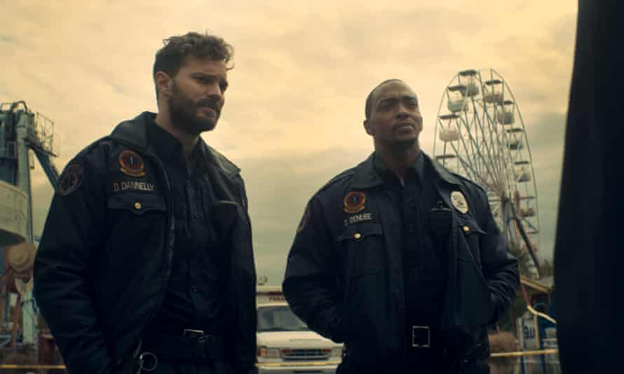 Out of time … Jamie Dornan and Anthony Mackie in Synchronic.