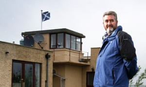 David Milne lives in an old coast guard station near Trump's Aberdeenshire golf course.
