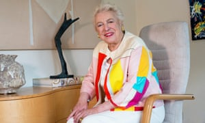 Dame 'Steve' Shirley at her home in Henley-on-Thames last month.