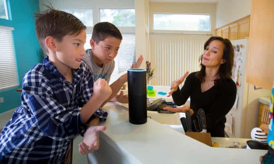 Amazon Echo speaker.