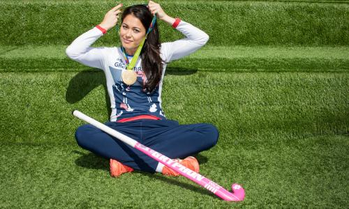 Team GB hockey player Sam Quek: 'Everybody said we shouldn't really be beating the Netherlands.'