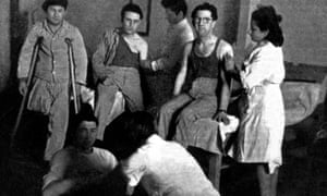 Patients at the Jewish hospital in the monastery