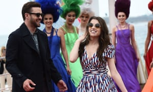 Justin Timberlake and Anna Kendrick at the Trolls event in Cannes