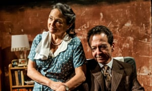Passing the parcel … Emma D'Inverno and Andy Secombe in Mr Gillie.