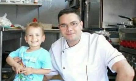 Roman Cristinel and his son Mihai.