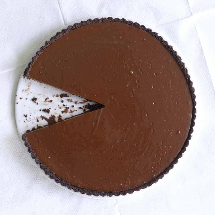 Fergus Henderson's salted chocolate and caramel tart.
