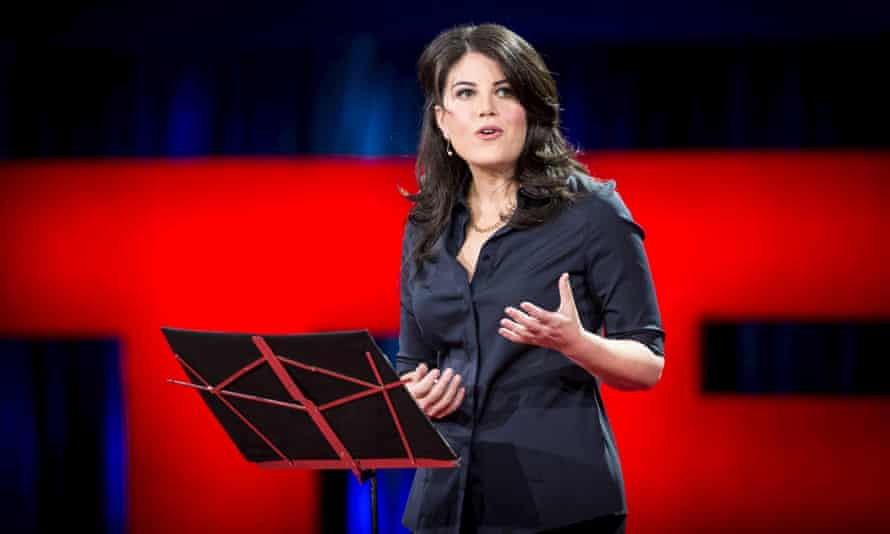 Former White House intern Monica Lewinsky speaks at the TED talk.
