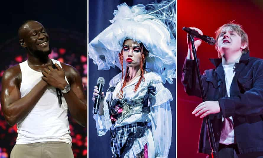 Contenders … from left, Stormzy, FKA twigs and Lewis Capaldi.