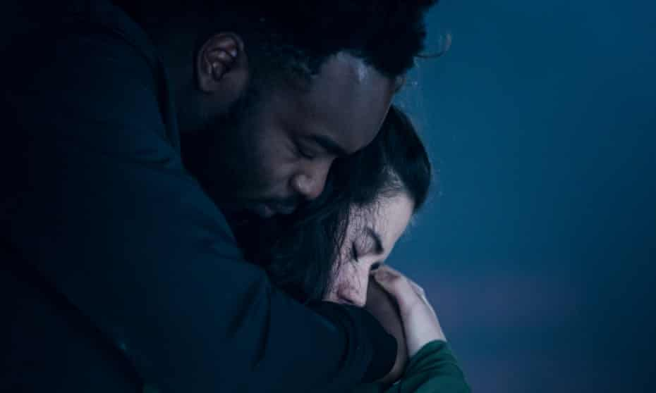 Abraham Popoola and Norah Lopez Holden in Othello.