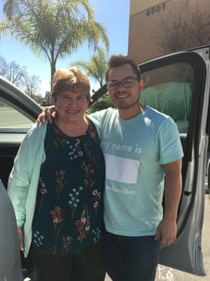 Carlos Ramos with his grandmother, Maria Cardona.