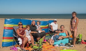 'We love England' ... Annie (far left) and her family visit Ramsgate from Germany