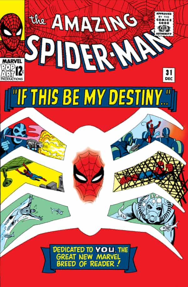 A 1965 issue of The Amazing Spider-Man, illustrated by Steve Ditko.