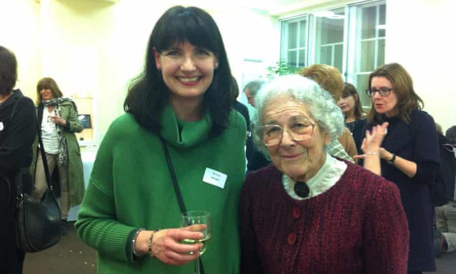 Teresa Heapy with Judith Kerr.