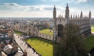 Cambridge University (King's College Chapel) Top View