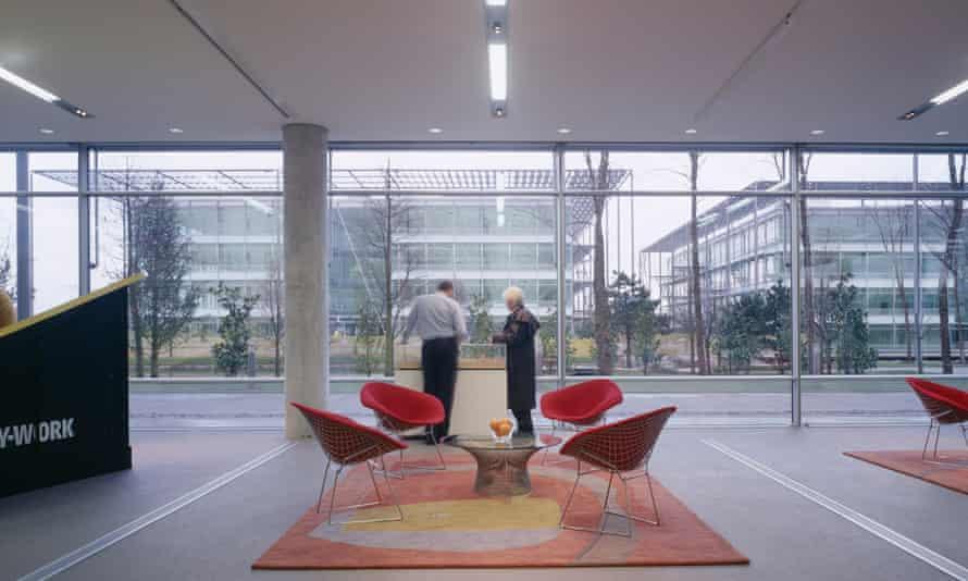Inside Chiswick Park business park