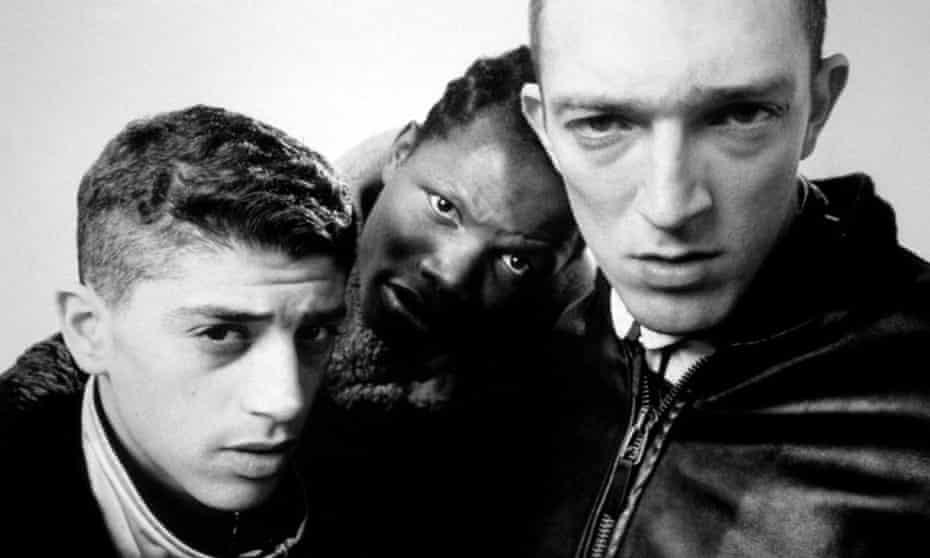 True grit ... Mathieu Kassovitz's La Haine with (from left) Saïd Taghmaoui, Hubert Koundé and Vincent Cassel.