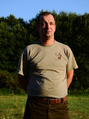Csaba Demeter, the forest guard who was attacked by a bear earlier this year.