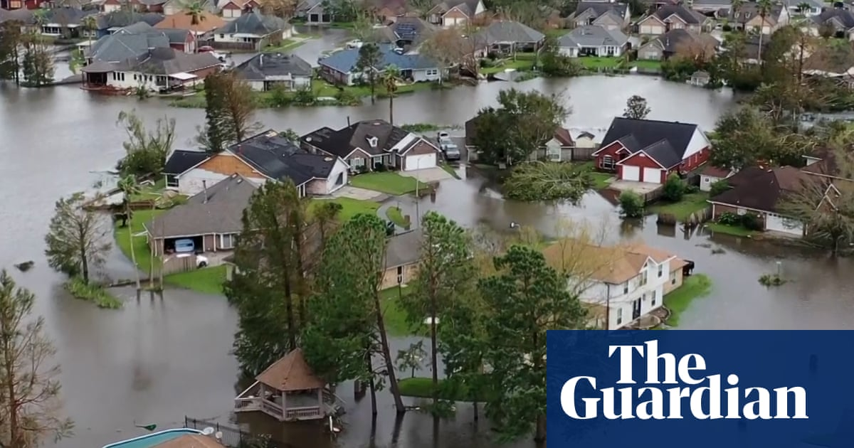 Hurricane Ida: aerial footage shows flooding and destruction in Louisiana – video