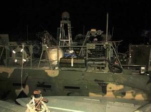 American Navy boats in Iranian custody