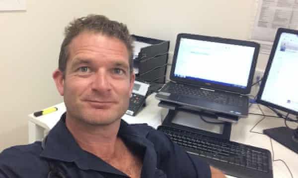 Dr Nick Martin while working on the Pacific island of Nauru