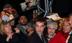 Robert Pattinson at the premiere of The Twilight Saga: Breaking Dawn Part 2, in 2012.
