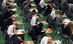 Students sitting mock GCSE exams
