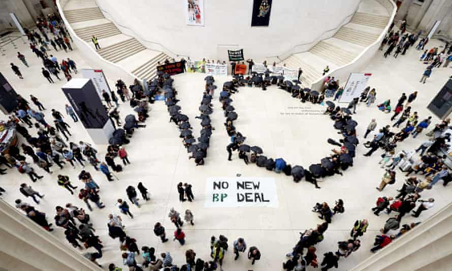 Protesters against BP sponsorship at the British Museum last year.