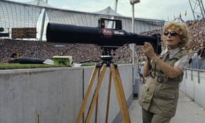 Riefenstahl works at the Munich Olympics in 1972