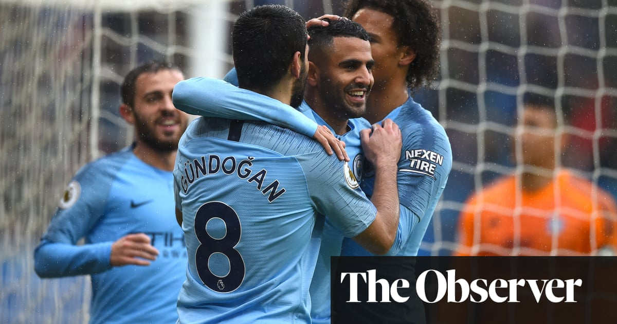 2bdfd5a1d25 Riyad Mahrez double caps five-star Manchester City s rout of Cardiff ...