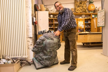 'It was madness at first' … prop-maker Frank Mittmann.