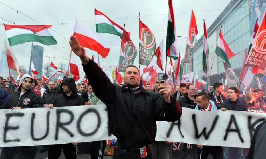 Jobbik on the march … all over Europe, the EU's economic failure is fuelling racism and the ultra right.