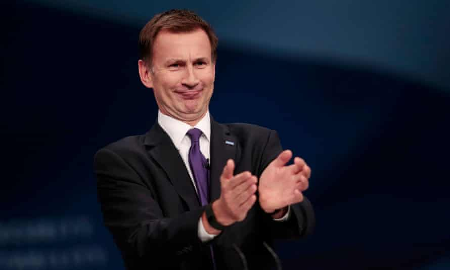 Jeremy Hunt at the Conservative conference in Manchester