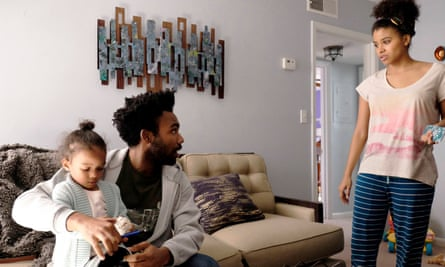 Family values: Donald Glover as Earnest Marks and Zazie Beetz as Van.